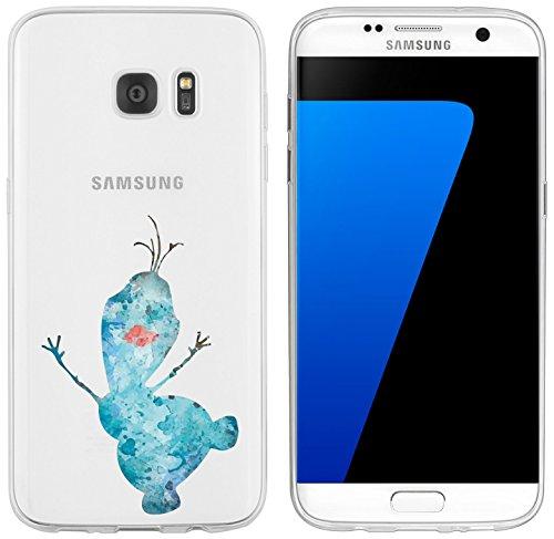 Samsung Galaxy S7 Edge Hülle von licaso® für das Galaxy S7 Edge aus TPU Silikon Schneemann Aquarell Winter Comic ultra-dünn schützt Dein Samsung Galaxy S7 Edge & ist stylisch Schutzhülle Bumper in einem (Samsung Galaxy S7 Edge, Schneemann Aquarell)