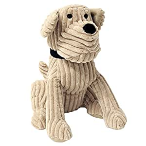 "Riva Paoletti Corduroy Dog Doorstop - Heavyweight Sand Filling - 100% Polyester - 18 x 27 x 23cm (7"" x 11"" x 9"" inches) - Designed in the UK"