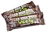 Veety - Vegan High Protein Bar 31% Schoko Pur - Veganer Protein Riegel - Superfood (Goji, Chia) Reis Erbse Protein Vegan Natural Raw Roh Made in Bavaria, 3 x 48g (Schoko Pur)