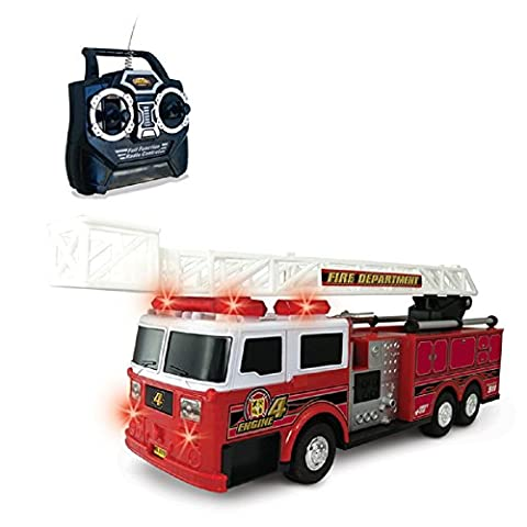 NKOK Remote Control RC Fire Engine Tender Appliance Ladder Truck Toy (Red)
