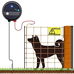VOSS.farming 100m Komplettset Orange Hundezaun Weidezaungerät Elektronetz mittelgroße Hunde