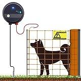 VOSS.farming 50m Komplettset Weidezaungerät Elektronetz Orange Hundezaun mittelgroße Hunde