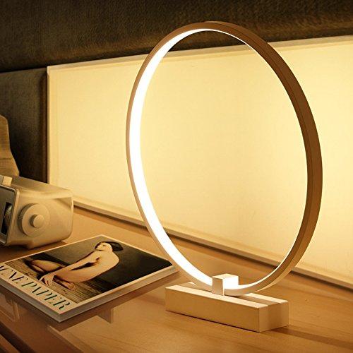 OOFAY LIGHT®Einfache Kreative Tischlampe Moderne Kunst Wohnzimmer Lampe Acryl Lampe Aluminium Nachttischlampe Schlafzimmer Dekorative Lampe Geschenk (Sauber Gegossen)