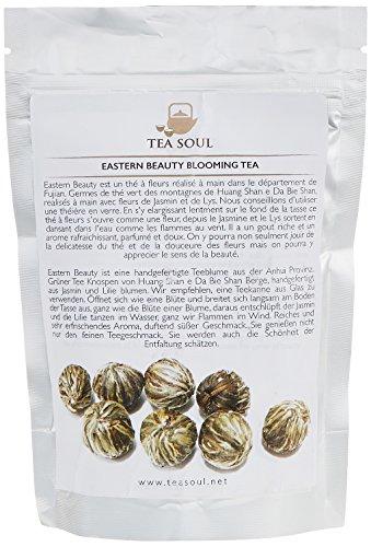 TEA SOUL Eastern Beauty Lose Blatt Blumentee, mit Grüner Tee, Lilieblumen und Jasminblumen, 1er Pack (1 x 50 g)