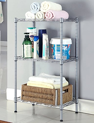Küche Regal Badezimmer Regal Badezimmer Regal Storage Rack (drei) (zwei Farben optional) ( farbe : Gray , größe : L*W*H:40*25*70cm )