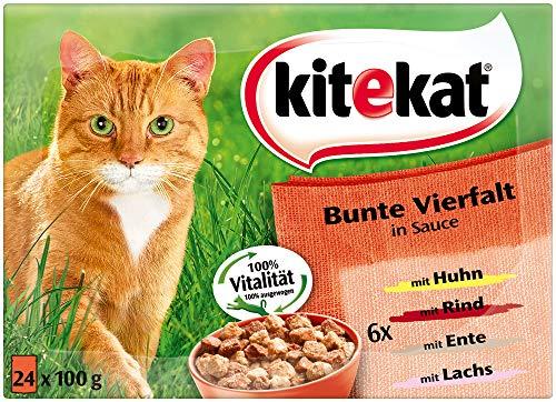 Kitekat Katzenfutter Bunte Vierfalt in Soße, 24 x 100 g