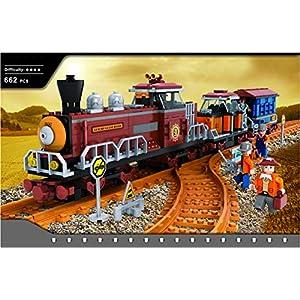 AUSINI di marca Treno Set con 2 carrozze operaio passengers e guide #25710 Giocattolo LEGO