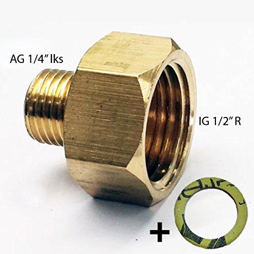Phnix-PH-A1214-bergang-12-R-x-14-lks-Reduzierung-aus-Kupfer-LPG-Gas-Adapter-f-Gaskocher-Gasschlauch-Gasherd-mit-Dichtung-Gewindeadapter-bergangsstck-12-IG-x-14-AG