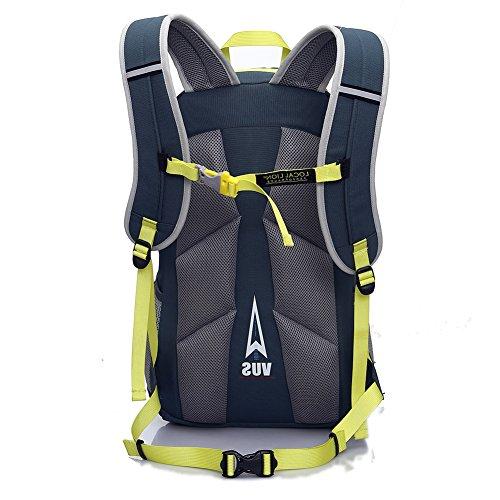 Cuckoo 32L Unisex Große Bergsteigen Tasche Trekking Daypack Wasserdicht Outdoor Wandern Reisen Klettern Camping Radfahren Rucksack mit Regenhülle Marine