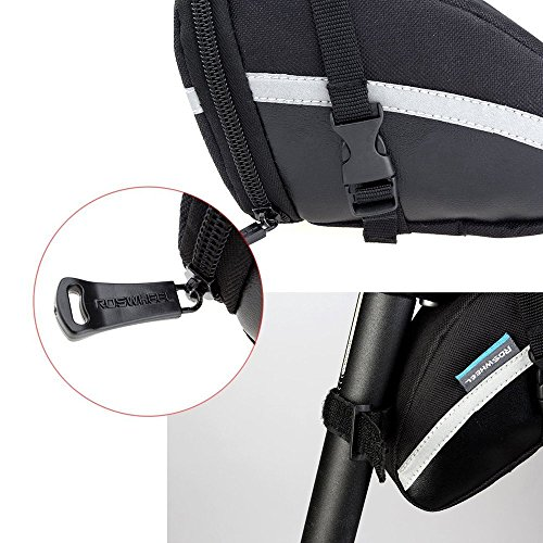 Intsun 1.2L Bike Seat Saddle Wedge Pack Pannier Storage Bag Mountain Road MTB Bicycle Bike Cycling PU Saddle Bag, Bicycle Repair Tools Pocket Pack Riding Cycling Supplies