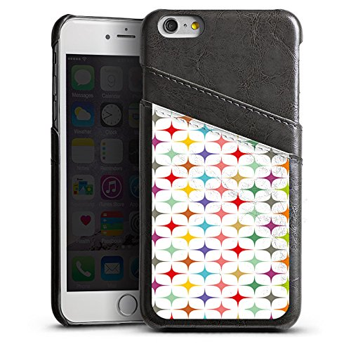 Apple iPhone 6 Housse Étui Silicone Coque Protection Rétro Vintage Rétro Collection couleurs Étui en cuir gris