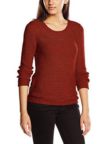 ONLY Damen Onlgeena XO L/S Pullover Knt Noos, Rot (Cherry Mahogany), 36 (Herstellergröße: S)