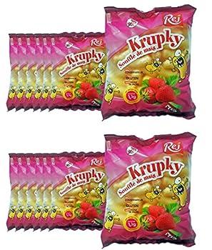 Krupky Soufflé de Maïs à la Fraise - SANS GLUTEN - Lot de 14 sachets de 90g