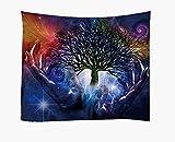Arazzi di albero di vita di stampa digitale 3D Tappezzerie per materassini da meditazione Yoga Beach da parete / regalo di Natale Letto Cover Tapestry Tapestry per camera da letto soggiorno dormitorio , 1
