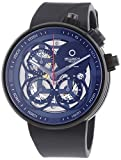 """Meccaniche Veloci Quattro Valvole """"Naked"""" Limited Edition Men's Automatic Watch with Grey Dial Chronograph Display and Black Rubber Strap W123K347496025"""