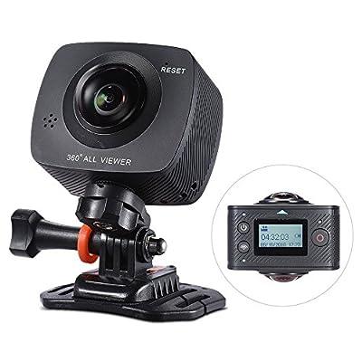 Andoer Panorama 360 VR Video Camera Full HD 1440P 1080P 30FPS 8MP Action IP Camera w/ Waterproof Case