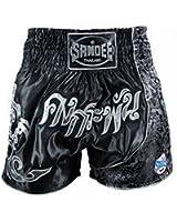 Sandee Unbreakable Thai Shorts - Black Silver