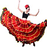 Erwachsene Frauen Spanisch Bull Flamenco Zigeuner Bauchtanz Rock Performance (Goldkreis)