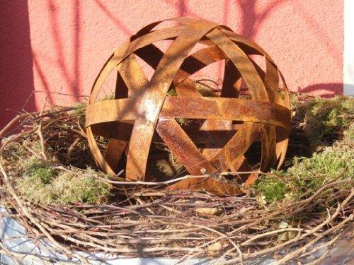 Edelrost Kugel Metallband 40cm Rostkugel