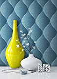 Tapete Edel Vinyl Türkis , schönes Floral Design und purer Luxus Effekt , moderne 3D Optik für Wohnzimmer,Schlafzimmer oder Küche inkl. Newroom Tapezier Profibroschüre mit Tipps für perfekte Wände