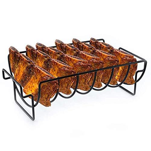 Edelstahl Home Outdoor Grillen BBQ Rib Ständer Antihaft Huhn Rindfleisch Rippen Barbecue Rack Grill Zubehör Werkzeuge 2 STÜCKE (Rack Rippen)