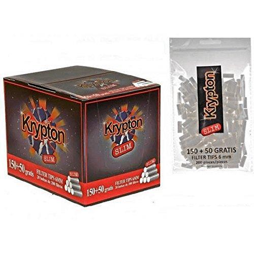 4000 Filtros Krypton 6mm slim para tabaco de entubar …