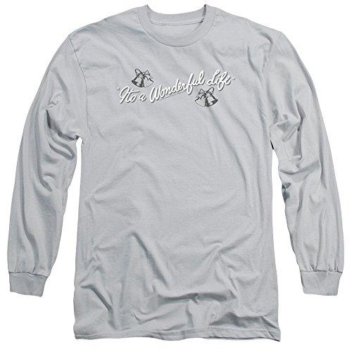 2Bhip It's A Wonderful Life Christmas Fantasy Drama Logo Adult Long Sleeve T-Shirt