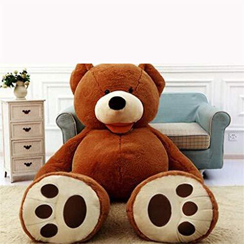 CPFYZH Mädchen Mit Leerem Teddybär Riesiger Amerikanischer Riesenbär Haut Teddy Coat Plüsch Toy-160Cm_Dark_Brown_Skin