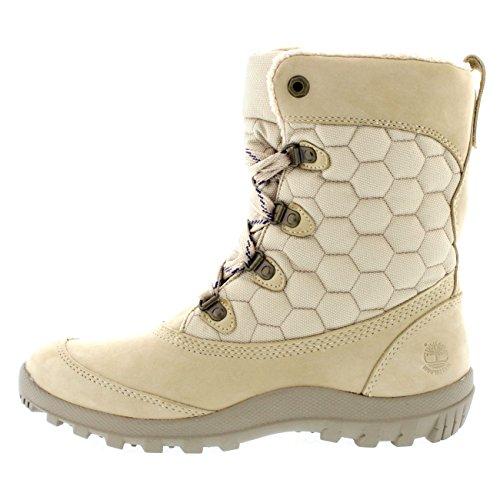 Timberland Womens Earthkeeper Mount Hope Winter Snow Rain Mid Calf Boot - Off White - 9
