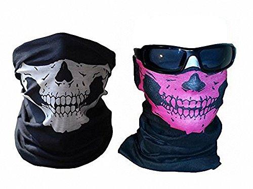 ifunktions-Half Face Skull Tube Maske für Halloween (Vampire Fang Caps)