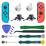Joystick 3D de remplacement pour la manette Nintendo Switch pour contrôleur Joy-Con avec outil de tournevis Y1.5 +2.0, outils de levier, boucle de verrouillage métallique Joy Con