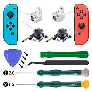3D-Analog-Joystick Daumen-Sticks Ersatz für Nintendo Switch, Schraubendreher Set Reparatur Werkzeuge Kit für Nintendo…