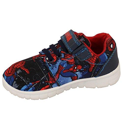 Garçons Disney Cars Baskets Enfants Spiderman Pixar Course Prêt Star War Chaussures Neuves Marine/Bleu - SMVERYAN