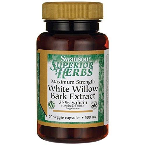Maximum Power White Willow Bark 500 mg 60 Veg Caps - Formel Veg Caps