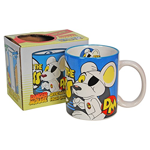 Official Danger Mouse 80s Cartoon Mug, Gift Boxed.