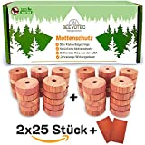 BeeyoTec VORTEILSPACK 2x25 [50 Stück] Mottenschutz aus Zedernholz + 2x GRATIS...