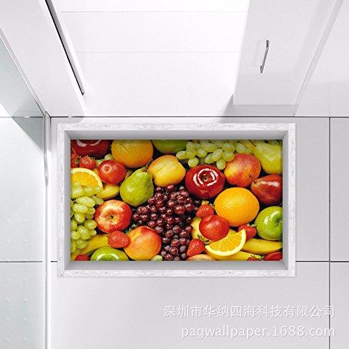 Decorazioni di natale per halloween 3d (frutta e verdura), bagno antiscivolo, soggiorno / cucina / sala da pranzo in corridoio / / water / impermeabile e antiskid hd (58 * 90cm)