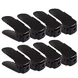 Yxaomite Schuhstapler Schuhhalter Schuh Organisator Schuhschränke Verstellbarer Platzsparend Ablagegestelle Halte für 8 Paar Schwarz