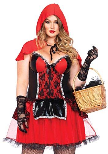 Leg Avenue 85485X - Curvy Rotkäppchen Kostüm, Größe 3X-4X (EUR 48-50)