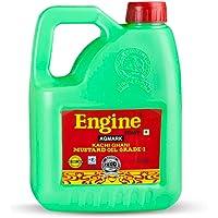 Engine Brand Kachi Ghani Agmark Grade - 1 Mustard Oil - 2 Liter Jar