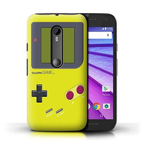 Stuff4® Hülle/Case für Motorola Moto G (2015) / Gelb Muster/Videogamer/Gameboy Kollektion - Motorola Gameboy Moto G Case