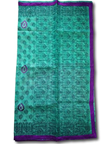 Green Supernet Kota Saree