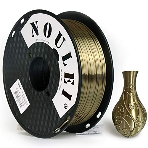 Noulei Filamento de para impresión 3d 1.75mm PLA, Silk Antique GOLD Shiny Printing Filament 1KG 1 Spool