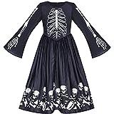 Vestido para niña Víspera de Todos los Santos Fantasma Cráneo Vampiro Cosplay 14 años