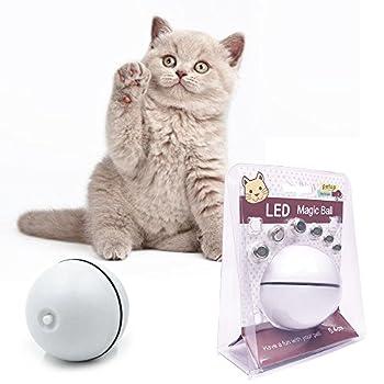 Jouet de chat Kitten Toy Jouet de chien Puppy Toy Boule de jouet électronique Lumière à bille rotative à rotation électrique automatique - Meilleur jouet interactif pour chat / chaton et chien de chien