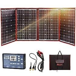 DOKIO 200W Solar Panel 12V Monokristallin faltbar mit Inverter-Laderegler