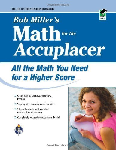 ACCUPLACER?: Bob Miller's Math Prep (College Placement Test Preparation) by Miller, Bob (2009) Paperback