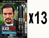 Blackbeard für Herren–temporäre Pinsel Auf Farbe 12ml–Schwarz X13