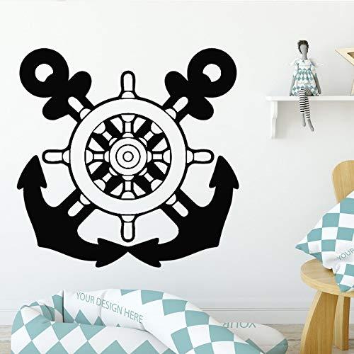 Segeln Wandaufkleber für Wohnzimmer Mann Hintergrund Vinyl Wasserdichte Aufkleber Selbstklebende Wandkunst Zubehör Abnehmbare 43 * 42 cm