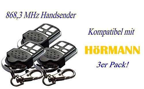 3x YET Handsender 868 MHz für Hörmann und Marantec Garagentorantriebe. Ersetzt HSM 4 HSE 2 HS 4 HSP HSD Digital 302 - 304 - 313 - 321